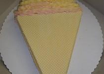 Dort točená zmrzlina, vanilkovo-malinová