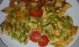 Zapékané fazolky s mrkví