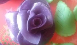 Marcipánové růže s postupem