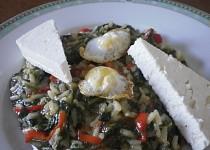 Řecké spanakorizo-špenát s rýží