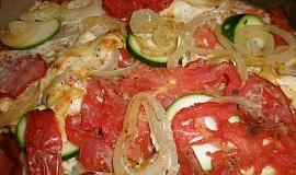 Zapečená rajčata s cuketou