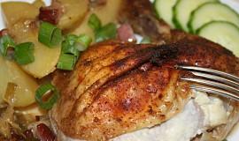Pečené kuře s česnekovým překvapením