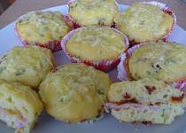 Plněné slané muffiny