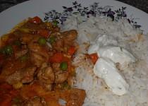 Rýže s tatarkou a kuřecí směsí