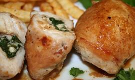 Kuřecí závitky se špenátem a fetou