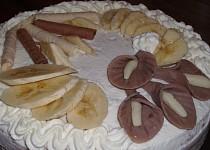 Lehký banánový dort