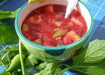 Polévka z červené řepy s ačokčou