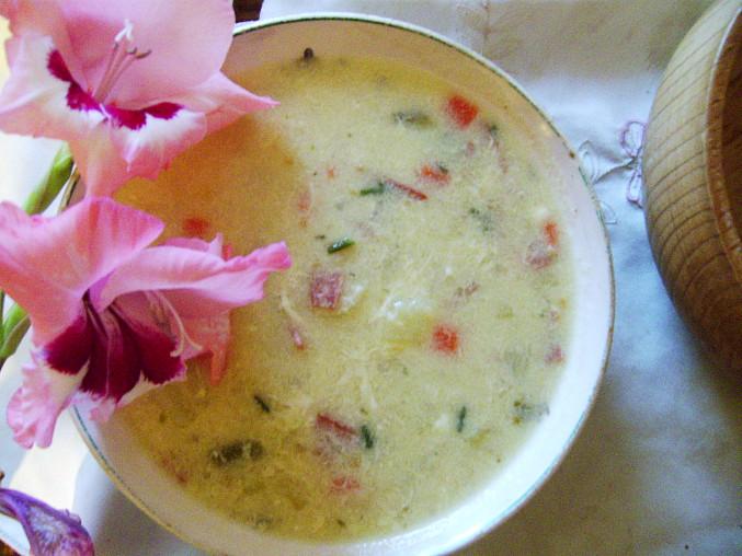 Šikovná polévka se sýrovou chutí