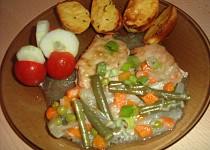 Zapečené plátky se zeleninou