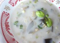Lilková polévka s těstovinami