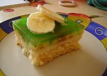 Banánové řezy se zeleným želé
