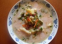 Polévka z  chrástu červené řepy