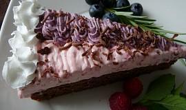 Čoko-moučník s ovocným krémem