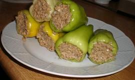 Plněné papriky pro vegetariány a štíhlou linii