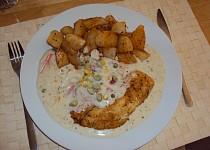 Ryba s bílou omáčkou