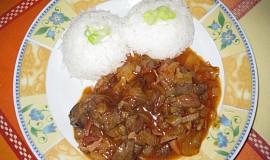 Kuřecí jatýrka v kečupové omáčce