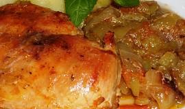 Kuřecí prsa na paprice a rajčatech