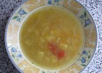 Letní polévka s kedlubnou