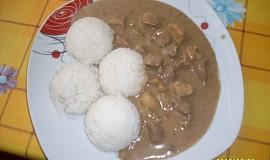 Vepřové maso se žampiony a rýží