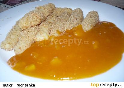 Bramborové šištičky s meruňkovou omáčkou