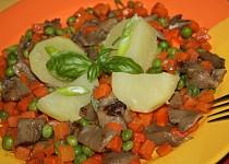 Hlíva s hráškem a mrkví