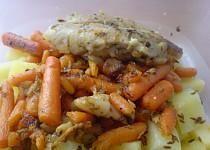 Štikozubec s mrkví a bazalkou (Rychlý oběd do práce)