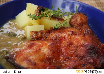 Kuře na kaparech