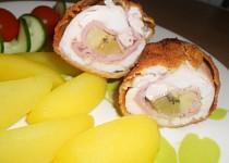 Kuřecí závitky s kiwi a banánem