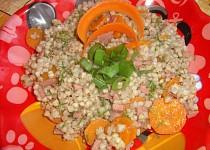 Pohanka s mrkví, celerem a šunkou