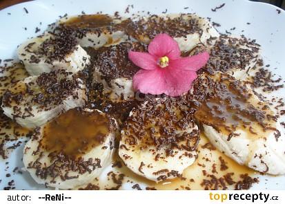 Banánky pod kafíčkovo-kokosovo-čokoládovou vrstvou