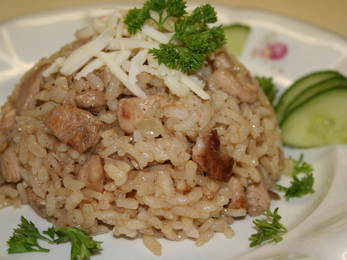 Kuřecí risotto z české kantýny