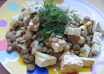 Salát z čočky a tofu