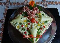 Slaný dort s nivou