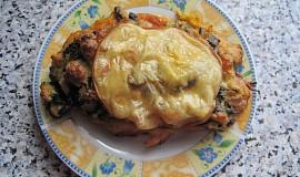 Zapečené kuřecí prsíčka s žampionovou nádivkou