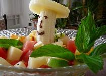 Ovocný salát s vaječným koňakem