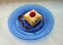 Tvarohový koláč s rebarborou