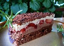 Čoko-malinový/jahodový dort