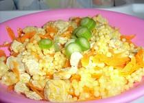 """Těstovinová rýže s mrkví a masem  """"pro nejmenší"""""""