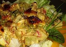 Zapečená brokolice a brambory v kari bešamelu