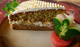 Banánovo-karamelový dort