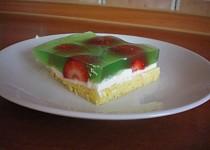 Vodnický koláč s jahodami