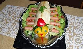 Slaný dort - stonožka