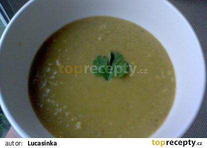 Zeleninový krém s červenou čočkou a koriandrem