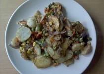 Smetanové brambory se zeleninou