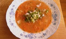 Mrkvová polévka s jarní cibulkou