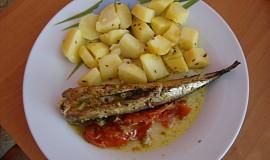 Makrela se zeleninou na grilu
