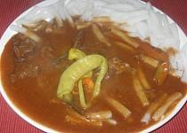 Maďarský guláš z hovězího masa