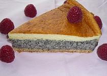 Strakatý makovo-vaječný koláč