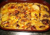 """""""Veršované"""" brambory se sýrem a houbami"""