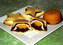 Trojbarevné muffiny